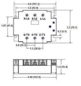 Dimensions GN325DSZ Relais triphasé CROUZET