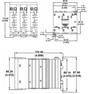 Dimensions GNR25DCR crouzet